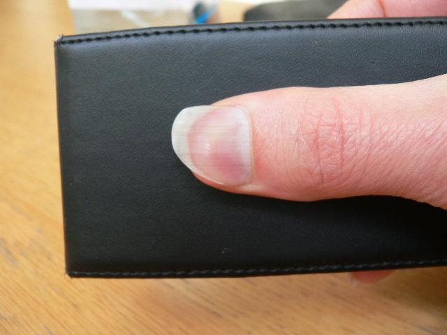 Curved thumb nail